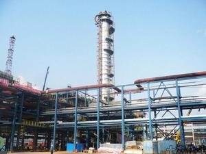 四川达州天然气净化厂项目 C104-φ3500×(16+3)×51425胺液再生塔装置〕